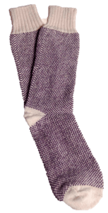 Purple Hemp Birdseye Socks