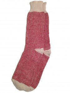 Red Hemp Birdseye Socks