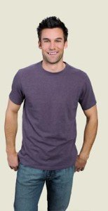 Hemp Tee Shirt Dirty Purple