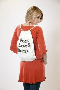 Peace Love Hemp Bag Natural