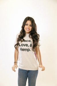 Peace Love Hemp Tee Natural