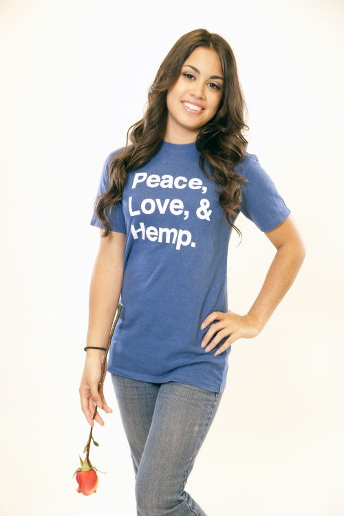 Peace Love Hemp Tee Blue