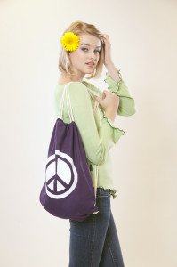 Hemp Peace Bag Purple