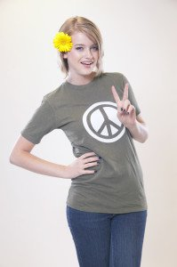 Hemp Peace Tee Green