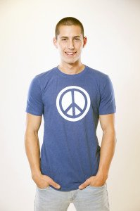 Hemp Peace Tee Blue