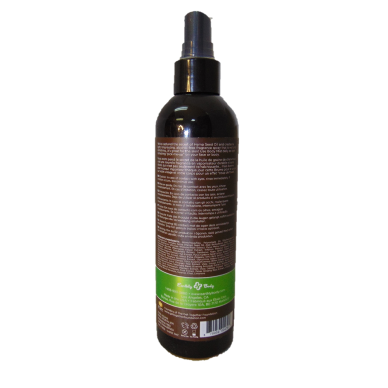 Hemp Body Spray Back Naked