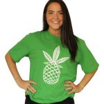 Pineapple-Tee-Green-Front